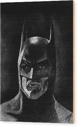 Batman Wood Print by Salman Ravish