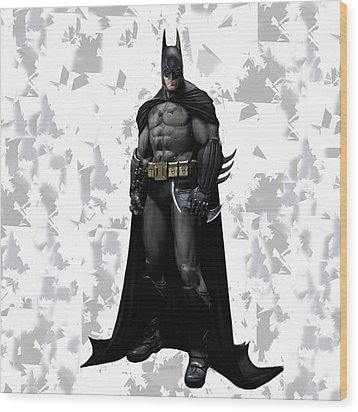 Wood Print featuring the mixed media Batman Splash Super Hero Series by Movie Poster Prints