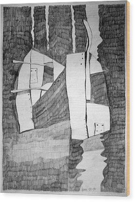 Battersea Wood Print by Charlie Spear