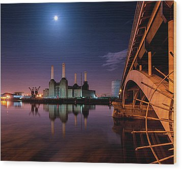 Battersea Power Station Wood Print by Vulture Labs