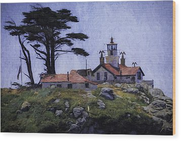 Battery Point Lighthouse Crescent City California Wood Print