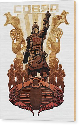 Battle Cry Wood Print by Brian Kesinger