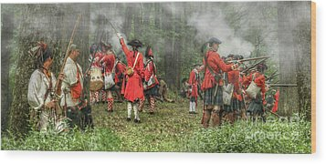Battle For Empire French And Indian War Wood Print by Randy Steele