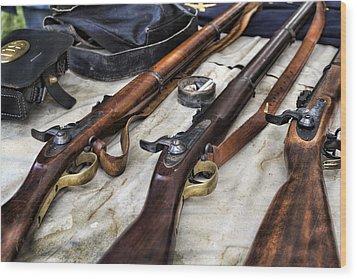 Battle Gear Wood Print by Peter Chilelli