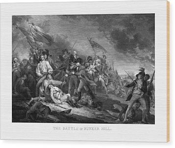 Battle Of Bunker Hill Wood Print
