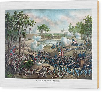 Battle Of Cold Harbor Wood Print by War Is Hell Store