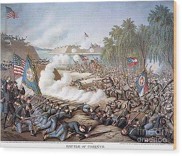Battle Of Corinth, 1862 Wood Print by Granger