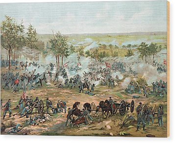Battle Of Gettysburg Wood Print by War Is Hell Store