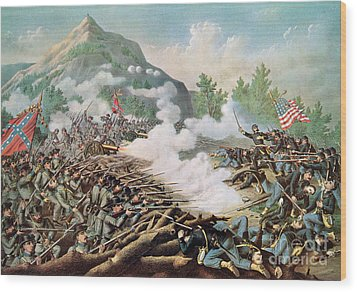 Battle Of Kenesaw Mountain Georgia 27th June 1864 Wood Print by American School