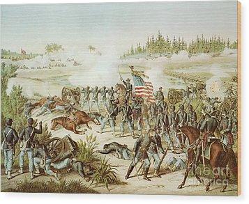 Battle Of Olustee Wood Print by American School