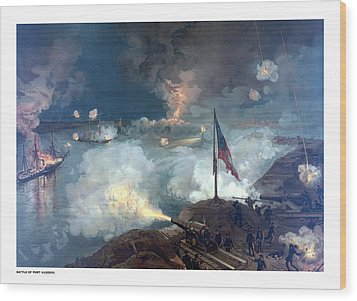 Battle Of Port Hudson Wood Print by War Is Hell Store
