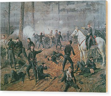 Battle Of Shiloh Wood Print by T C Lindsay