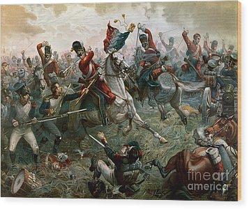 Battle Of Waterloo Wood Print by William Holmes Sullivan