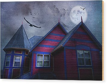 Wood Print featuring the photograph Battle Street West by Theresa Tahara