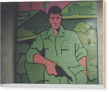 Battle Veteran Wood Print by James Larson