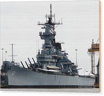 Battleship New Jersey Wood Print by Kevin Fortier