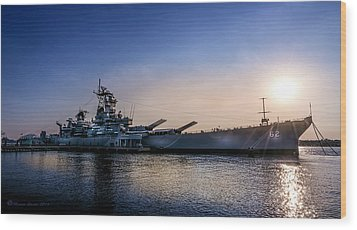 Wood Print featuring the photograph Battleship New Jersey by Marvin Spates