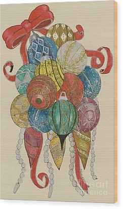 Baubles Wood Print by Eva Ason