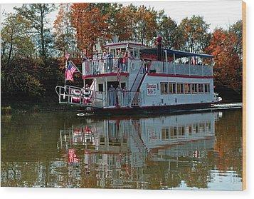 Wood Print featuring the photograph Bavarian Belle Riverboat by LeeAnn McLaneGoetz McLaneGoetzStudioLLCcom