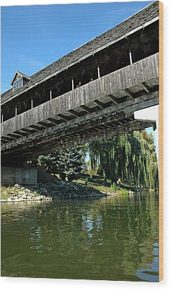 Wood Print featuring the photograph Bavarian Covered Bridge by LeeAnn McLaneGoetz McLaneGoetzStudioLLCcom