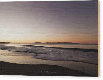 Bay At Sunrise Wood Print by Lora Lee Chapman