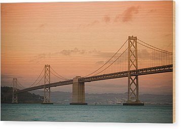 Bay Bridge Wood Print by Mandy Wiltse
