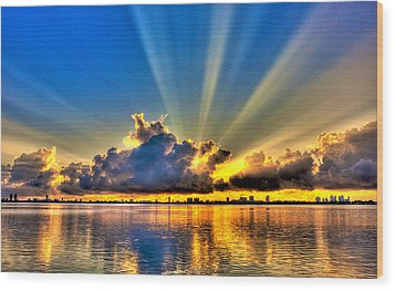 Bay Harbor Sunrise Wood Print