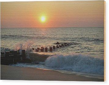 Bay Head Beach Sunrise 1 Wood Print