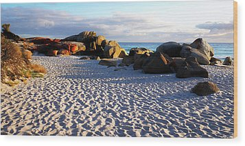Bay Of Fires Sunrise Wood Print by Lexa Harpell