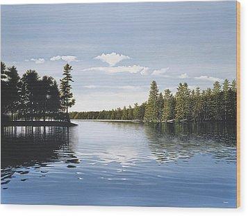 Bay On Lake Muskoka Wood Print by Kenneth M  Kirsch
