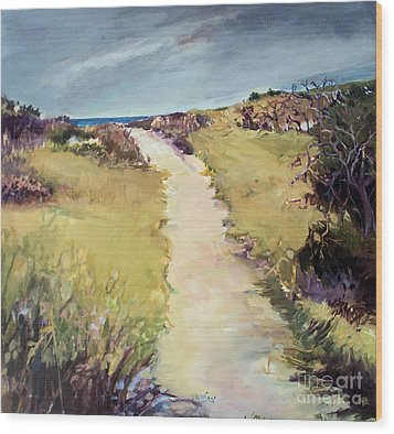 Bay Path Wood Print by Diane Ursin