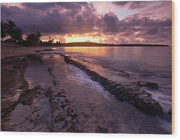 Wood Print featuring the photograph Bay Sunrise by Patrick Downey