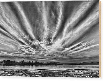 Bayfarm Island Sunrise Wood Print