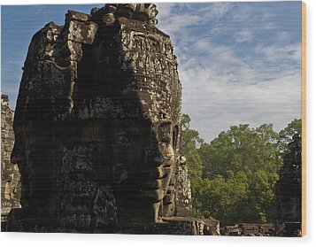 Bayon Temple, Siem Reap Wood Print