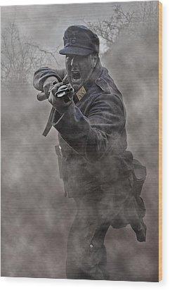 Bayonet Warrior Wood Print by Mark H Roberts