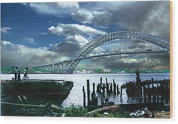 Bayonne Bridge Wood Print