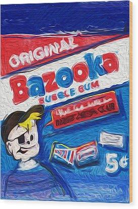 Bazooka Joe Wood Print by Russell Pierce