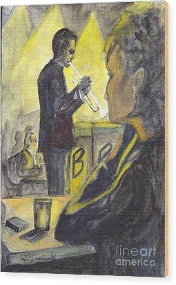 Bb Jazz Wood Print by Carol Wisniewski