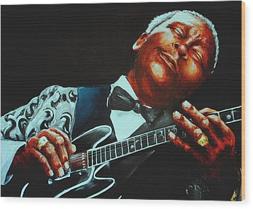 Bb King Of The Blues Wood Print by Richard Klingbeil
