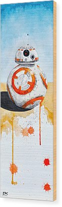BB8 Wood Print by David Kraig