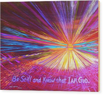 Be Still Wood Print by Jeanette Jarmon