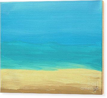 Beach Abstract Wood Print