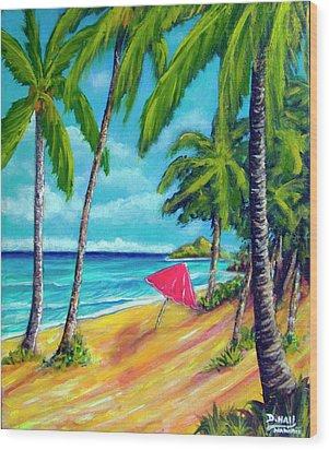 Beach And Mokulua Islands  #368 Wood Print by Donald k Hall