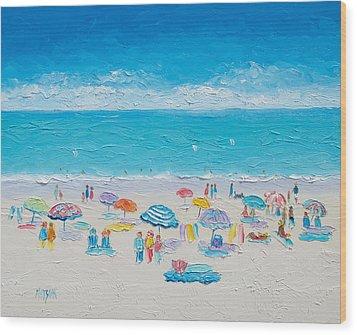 Beach Art - Fun In The Sun Wood Print