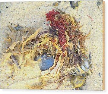 Beach Art Wood Print