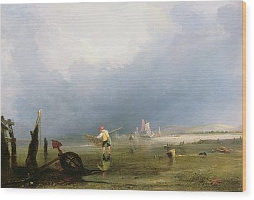 Beach At Shoreham Wood Print by Anthony Vandyke Copley Fielding