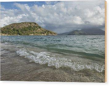 Beach At St. Kitts Wood Print