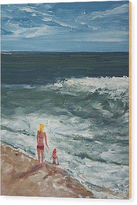 Beach Babes II Wood Print by Pete Maier