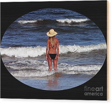 Wood Print featuring the photograph Beach Blonde .png by Al Powell Photography USA
