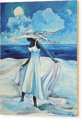 Beach Blues Wood Print by Diane Britton Dunham